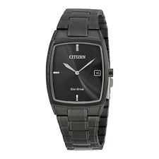 Citizen Eco-Drive Black Stainless Steel Mens Dress Watch AU1077-59H