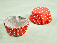 120 Pcs Red & White Dot baking Cups Cupcake liners muffin cupcake cases  CW53