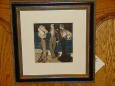 Circa 1930 Watercolor French School Bergdorf Goodman Exclusive Painting Framed