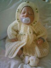 "Knitting pattern BABY NEONATO o RINATO BAMBOLA 17 "" -18"" PATT 15 LIMONE"