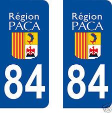 stickers autocollants plaques immatriculation auto Département Vaucluse 84