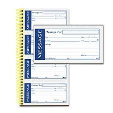 Adams Write `N Stick Phone Message Pad Carbonless Duplicate Adhesive - 200 ct.