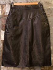 Outerbound Genuine Leather Skirt Womens Black Size 7/8 Runs small