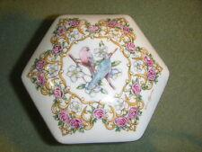 "Heritage Valentine Serenades Music Trinket Box ""Love Me Tender "" 1992 8 Sided"