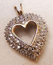 10K YELLOW GOLD HEART PENDANT WITH 2.00CTS DIAMONDS. (XPV1120-1369)