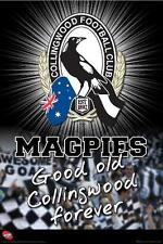 AFL Collingwood Logo POSTER 61x91cm Good Old Magpies Forever aussie rules