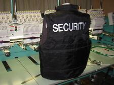 Security chaleco bodywarmer seguridad protección servicio de seguridad bordada