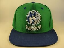 Minnesota Timberwolves NBA Adidas Snapback Hat Cap Green Blue