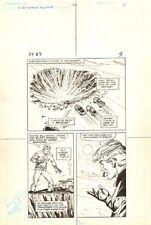 Flash Force 2000 #3 p.5 - Giant Crater - Matchbox Car 1983 art by Sal Trapani Comic Art