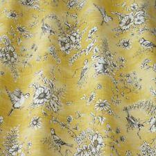 Iliv forever spring gold finch rose brodé oiseau rideau tissu