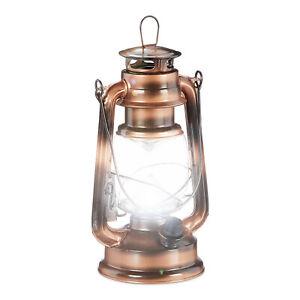 1 x Sturmlaterne kupfer LED Sturmlampe LED-Petroleumlampe Dekolaterne Garten