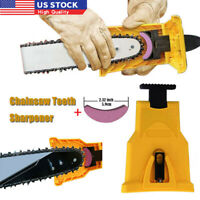 "Easy Chainsaw Teeth Sharpener Sharpening Kit Bar Mounted Chain Saw 14""16""18""20"""