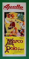 L57 LOCANDINA  MARCO POLO JUNIOR ANIMAZIONE CARTONE ANIMATO