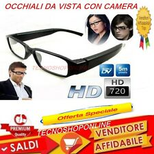 Occhiali da vista spia con telecamera invisibile 720 hd usb video offertissima