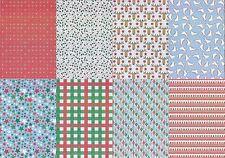 Motiv-Kartenpapier/Karton-TKK 14-verschiedene Muster mit Glimmer-ca.260g -A5
