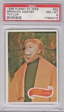 1969 Planet of the Apes Green Back Original #33 Speaking Against Taylor! Psa 8