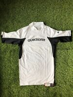 MRSP 40! New! With Tag! Mens UPF 50 Large Black and White Quiksilver Rash Guard