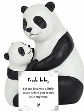 Panda bear ornament mum child baby family heart Mother's Day love present gift