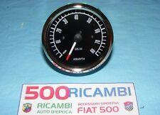 FIAT 500 F/L/R CONTAGIRI ABARTH STRUMENTO DA CRUSCOTTO TUNING DA 80 FONDO NERO