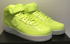 Nike Mens Size 10 Air Force 1 Mid '07 LV8 AF1 UV Shoes Volt White AO0702-700