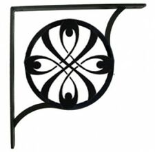 """Wall Shelf Bracket Pair Of 2 Ribbon Pattern Wrought Iron 7.25"""" L Crafting Accent"""