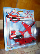 1991 Matchbox Red Arrows jet transport vehicle new in original package