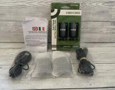 ORB XBOX 360 Controlador Doble Charge Y Juego Batería Pack-Negro
