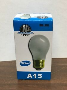 I.P. BRAND 40W A15 130V E26 FROSTED SHATTER PROOF APPLIANCE BULB (PACK OF 2)