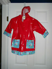 Western Chief Rain Jacket Hooded Red Cherries Design Toddler Girl Size 4T