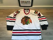 RARE CHICAGO BLACKHAWKS THEOREN FLEURY #14 AUTHENTIC CCM HOCKEY JERSEY SZ 52