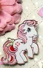 MY LITTLE PONY Acrylic Pin Badge Brooch Old School Kitsch Quirky Cute Retro Pink