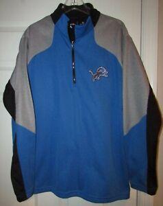 NFL Detroit Lions Half Zip Pullover Sz XL by Antigua