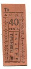 Singapore - Green Bus Co Ltd Bell Punch ticket - 40 cents