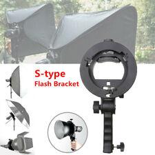 1X Handheld S-type Flash Bracket Handle Chuck Umbrella Hole TT560 Hot Shoe Mount