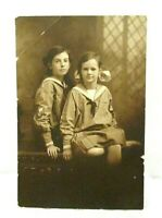 Vintage 1920s Photo 2 Beautiful Young Ladies In Matching Dresses With Logo