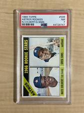 1966 TOPPS ASTROS ROOKIES NATE COLBERS/SIMS HIGH NUMBER #596 PSA 7