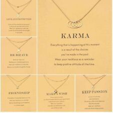 Golden wish necklace with card anchor Pendant Short Chain Choker Neckla