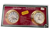Vintage Sunbeam Nautical Clock & Barometer Brass Wall Instruments 88560 NIB New