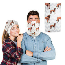Polyester Neck Gaiter Face Mask Tosa Dog Gray Zigzag Reusable Shield Covering