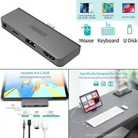 4 in 1 USB C Hub 4K 60HZ HDMI Adapter 3.5mm Audioausgang für IPad Pro 2020 2019