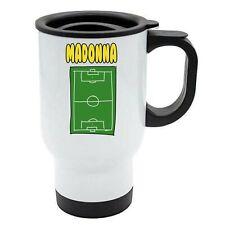 Madonna -Football Image Named Travel Mug Reuse- Personalised Gift For -  Hobby