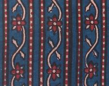 Tribal India Block Printed Cotton Natural Indigo Dye 2½ Yards Artisan Fabric