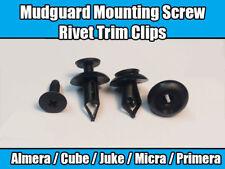 20x Clips For Toyota Vauxhall Mudguard Mounting Screw Rivet Trim Black Plastic