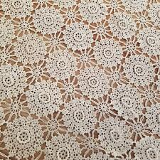 Keeco Hand Crochet Lace Coverlet Irish Rose Collection Queen Bed Cover Vintage