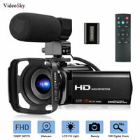 Video Camera Camcorder for Vloggingwith Microphone FHD 1080P 30FPS 24MP  YouTube