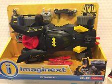 FISHER PRICE IMAGINEXT DC SUPER FRIENDS BATMAN FIGURE DELUXE BATMOBILE MISSILES