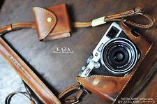 X100F_US KAZA leather camera case Vintage set half case Fujifilm X-100F COMBO