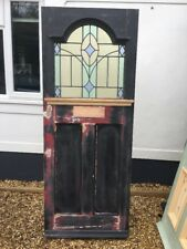 EDWARDIAN STAINED GLASS FRONT DOOR ANTIQUE RECLAIMED PERIOD WOOD LEAD OLD 20s
