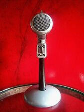 Vintage 1950's Turner S22X crystal microphone old antique w Astatic desk stand