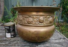 More details for at fault extra large antique brass rose floral rose plant pot, planter